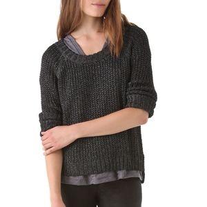 Rag & bone Sandra metallic pullover sweater XS